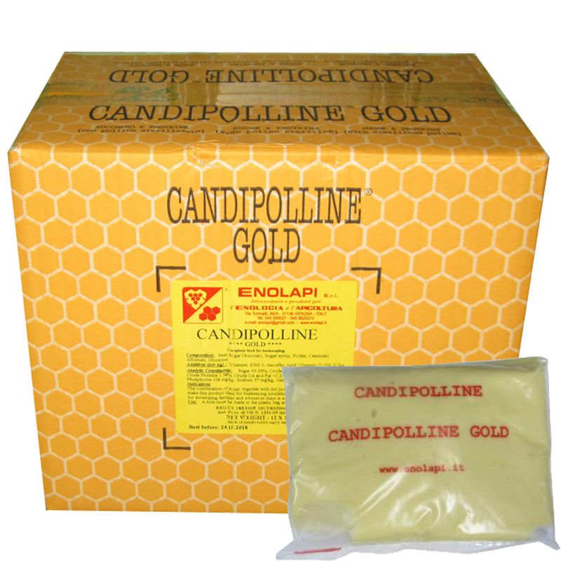 2 Candipolline Gold Bee Food 0.5 Kg